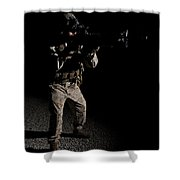 Portrait Of A U.s. Marine In Northern Shower Curtain