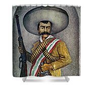 Portrait Of A Zapatista Shower Curtain