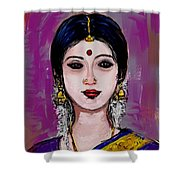 Portrait Of An Indian Woman Shower Curtain