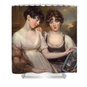 Portrait Of Anne And Maria Russell Shower Curtain
