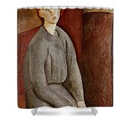 Portrait Of Annie Bjarne Shower Curtain