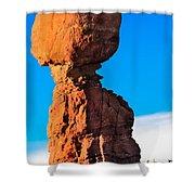 Portrait Of Balance Rock Shower Curtain