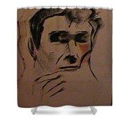 Portrait Of Frank Frazetta Shower Curtain