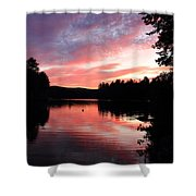 Portrait Of Lake Waukewan Shower Curtain