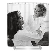 Portrait Of Mother And Daughter Shower Curtain by Michelle Quance