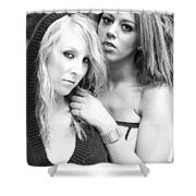 Portrait Of Young Ladies Shower Curtain