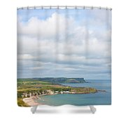 Portrait View Of White Park Bay Shower Curtain