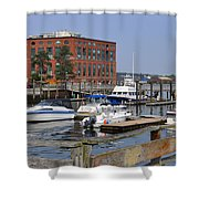 Portsmouth Waterfront Pwp Shower Curtain