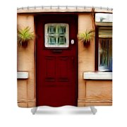 Portugal Red Door Shower Curtain