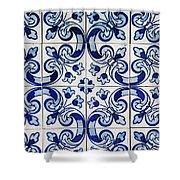 Portuguese Azulejo Shower Curtain