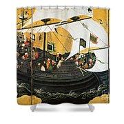 Portuguese Galleon Shower Curtain