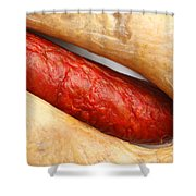 Portuguese Typical Sausages Shower Curtain