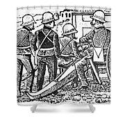 Posada: The Artillerymen Shower Curtain