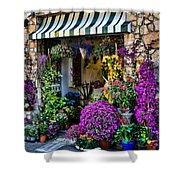 Positano Flower Shop Shower Curtain
