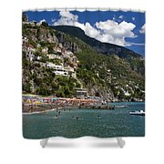 Positano Seaside Shower Curtain