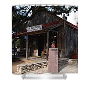 Post Office In Luckenbach Texas Shower Curtain