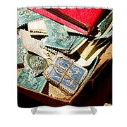 Postage Stamps Shower Curtain