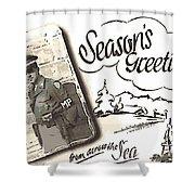 Postcard From War Shower Curtain