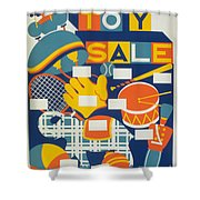 Poster: Toys, C1940 Shower Curtain