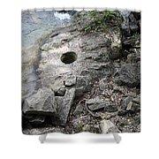 Pot Hole In Niagara River Shower Curtain