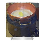 Pot Of Gold Caramel Shower Curtain
