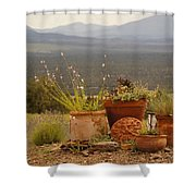 Pots And Vista Shower Curtain