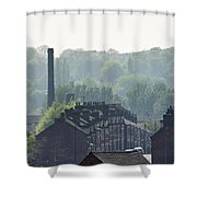Potteries Urban Landscape Shower Curtain