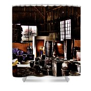 Pottery Storage Building II Shower Curtain