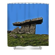 Poulnabrone Dolmen Shower Curtain