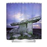 Poulnabrone Dolmen, The Burren, Co Shower Curtain