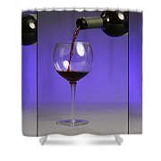 Pouring Wine Shower Curtain