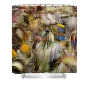 Pow Wow Color Shower Curtain