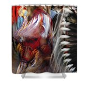 Pow Wow Dancer Shower Curtain