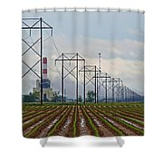 Power And Plants I  Shower Curtain