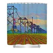 Power Plant Photo Art Shower Curtain