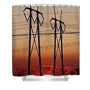 Power Towers At Sundown Shower Curtain