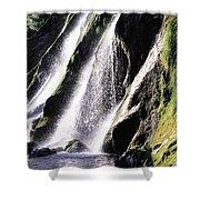 Powerscourt Waterfall, Co Wicklow Shower Curtain