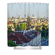 Prague And St Charles Bridge Shower Curtain