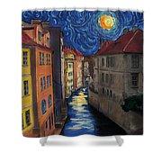 Prague By Moonlight Shower Curtain