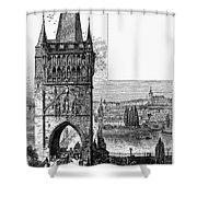 Prague: Carlsbridge Shower Curtain