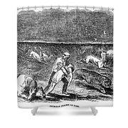 Prairie Fire, 1844 Shower Curtain