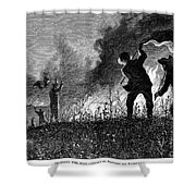 Prairie Fire, 1874 Shower Curtain