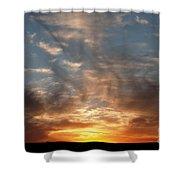 Prairie Sunset No1 Shower Curtain