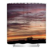 Prairie Sunset No3 Shower Curtain