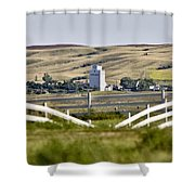 Prairie Town With Elevator Shower Curtain