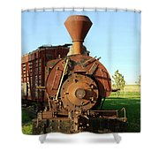Prairie Train Shower Curtain