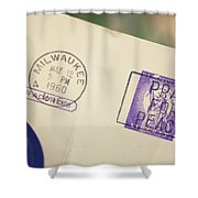 Pray For Peace 1960 2 Shower Curtain
