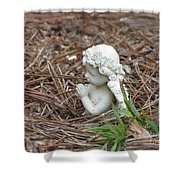 Praying Angel Shower Curtain