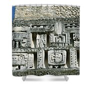 Pre-columbian Stone Ruin With Relief Shower Curtain