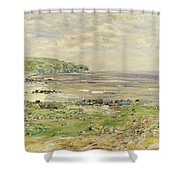 Preaching Of St. Columba Iona Inner Hebridies Shower Curtain by William McTaggart